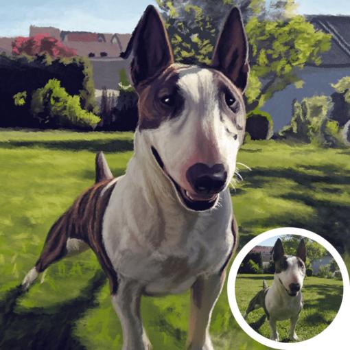 hund zeichnen lassen portrait ölgemälde
