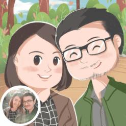 couple pärchen paar portrait karikatur zeichnen lassen
