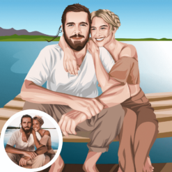 paar pärchen partner zeichnung zeichnen lassen valentinstag 2021 geschenkidee geschenk freundin