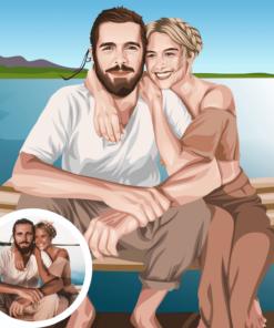paar pärchen partner zeichnung zeichnen lassen realistisch couple