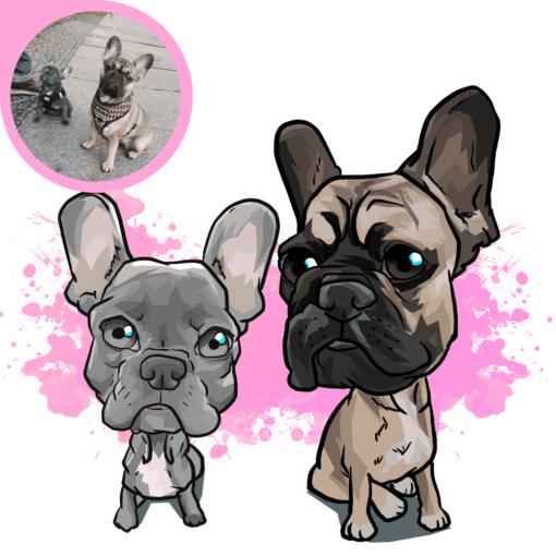 hunde karikatur zeichnen lassen