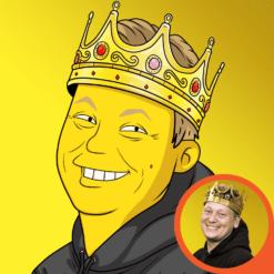 foto als gelber cartoon character zeichnen lassen karikatur profilbild portrait