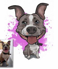 Katze hund karikatur portrait zeichnen lassen