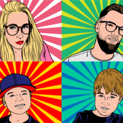 pop art portrait zeichnen lassen